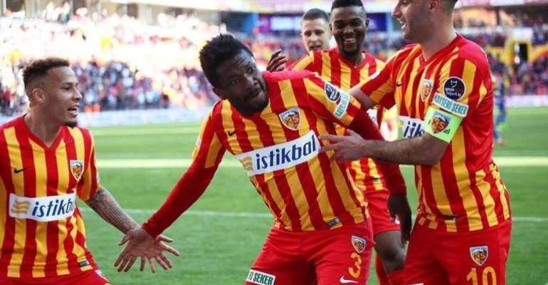 Asamoah Gyan Confirms His Exit From Kayserispor