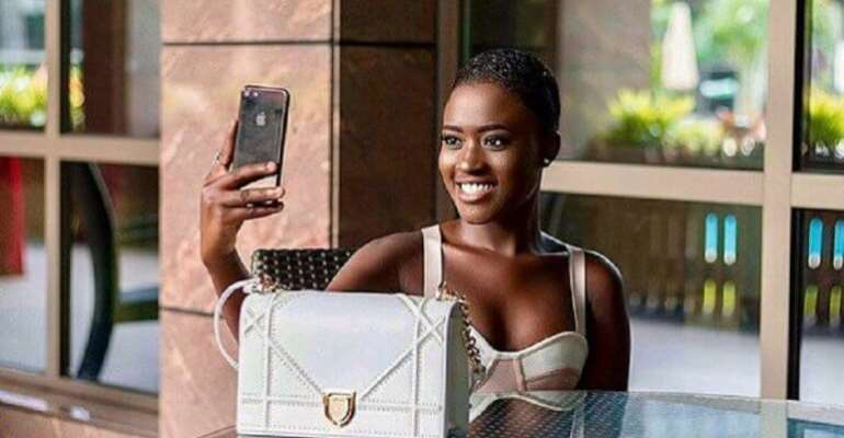 Fella Makafui surprised by Crystal Galaxy School Students
