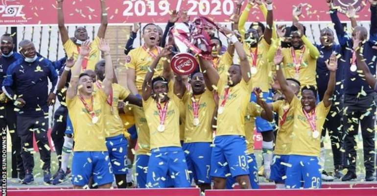 Mamelodi Sundowns have now won three consecutive South African league titles on two occasions (Photo: Mamelodi Sundowns FC)
