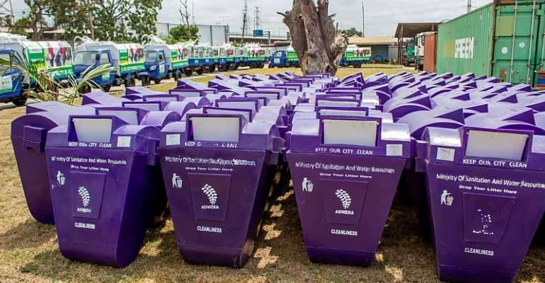 Three More Ministries Receive Litter Bins From Sanitation Ministry