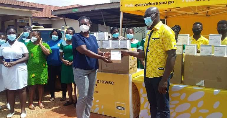 MTN Donates Face Masks To Kmasi South Hospital