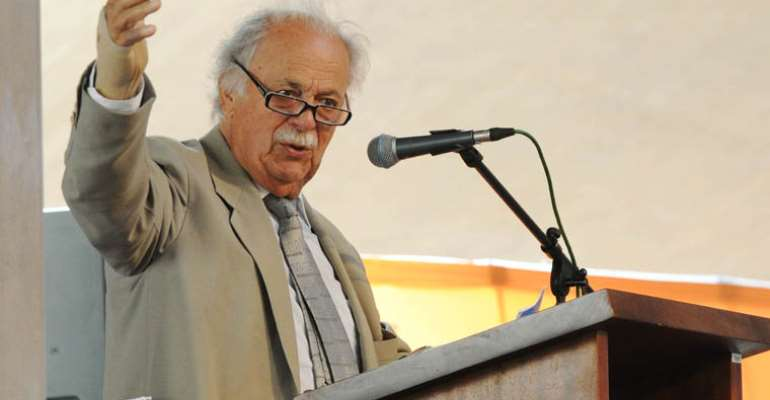Human rights lawyer and anti-apartheid activist George Bizos at Freedom Park, Pretoria, in 2013. - Source: GCIS/Flickr