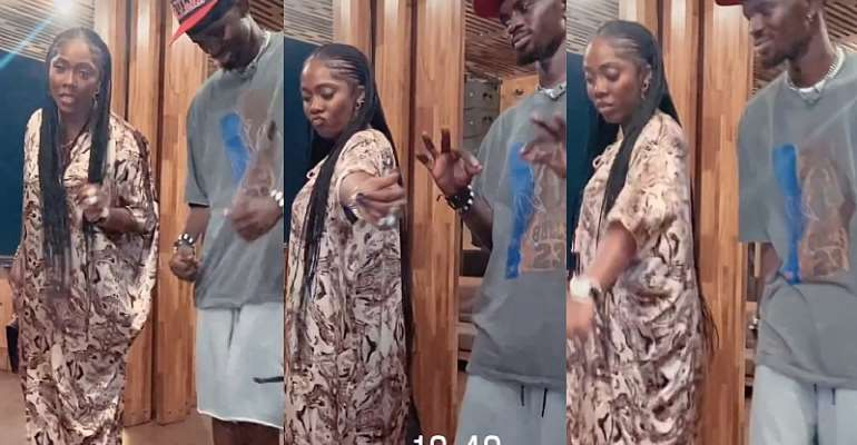 Black Sheriff spotted chilling with Nigerian songstress Tiwa Savage