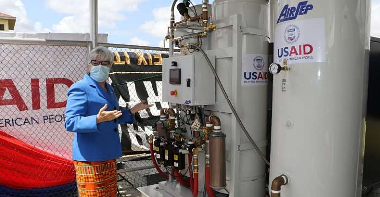US donates oxygen plant to Ghana Infectious Disease Centre
