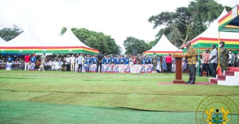 Akufo-Addo Cuts Sod For Accident And Emergency Complex At Dormaa Hospital
