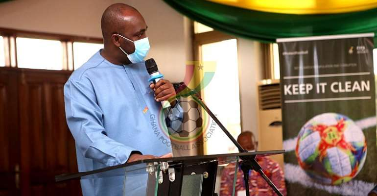 Sports Minister Isaac Kwame Asiamah addressing delegates at Congress on Tuesday