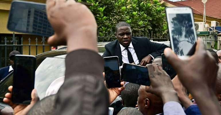 Nairobi senator Johnson Sakaja is filmed during an impromptu meeting on the streets of the capital.  - Source: Tony Karumba/AFP via Getty Images