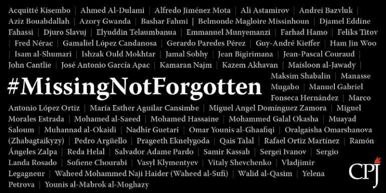 CPJ Launches #MissingNotForgotten Campaign