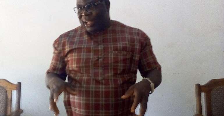Hon. Edward Owusu making a point at the meeting