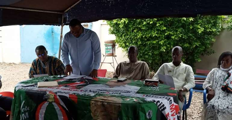 NDC's press conference in Kintampo South to announce the sacking of Mr. Kwadwo Nyame Datiakwa