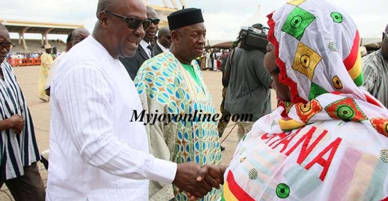Photos: Akua Donkor meets Mahama at Eid al-Adha celebrations