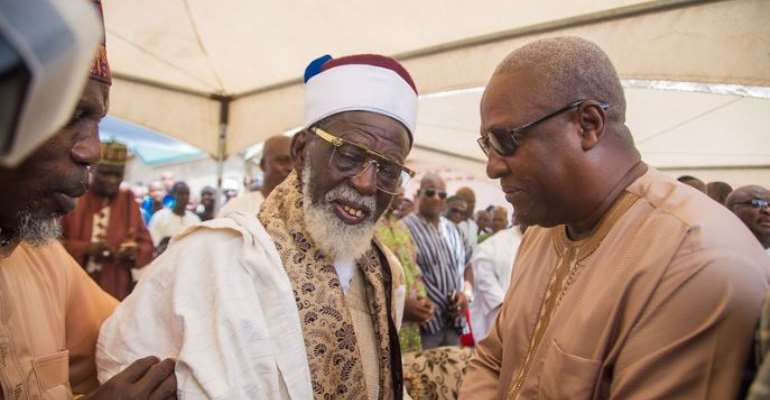 Mahama, Bawumia, Clash At Chief Imam's Late Sister's funeral