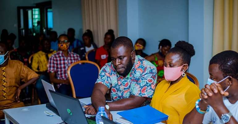 A cross section of some participants and judgers for the pitch summit