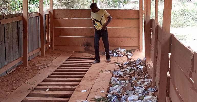 Open Defecation swallows Adumasa as residents avoid dilapidated public toilet.