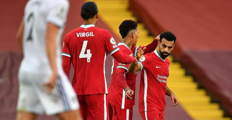 Mohamed Salah Hat-Trick Crowns Liverpool Win Against Leeds