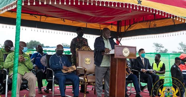 Akufo-Addo cuts sod for phase 2 of $60million UHAS expansion project in Ho