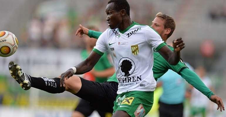Red-hot Dwamena strikes again to propel Lustenau to massive win in Austrian second-tier