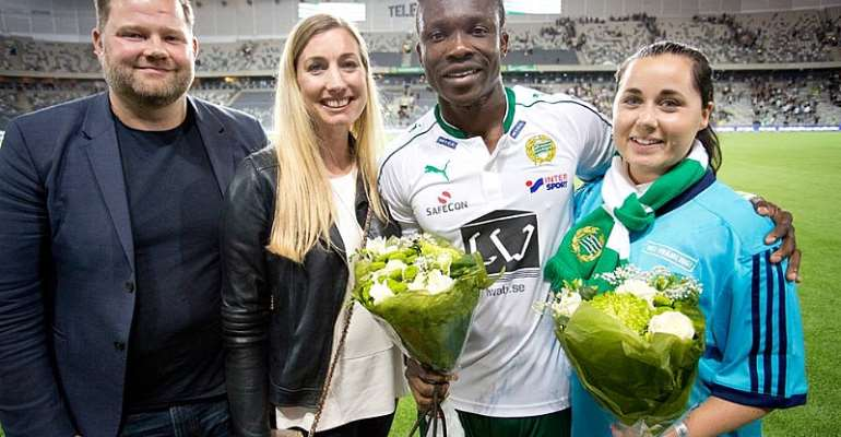 Joseph Aidoo picks Man-of-the-Match award after scoring in debut goal in Swedish league