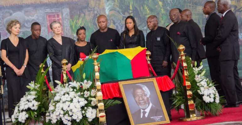 Kofi Annan's Wife In Tears; Flags Fly Half Mast For Burial