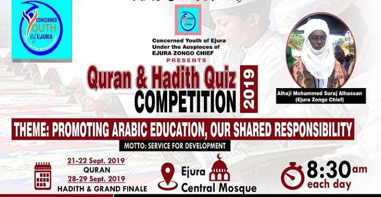Concerned Youth Of Ejura In Collaboration With Ejura Zongo Chief To Organize Quran & Hadith Competition For Arabic Schools In Ejura