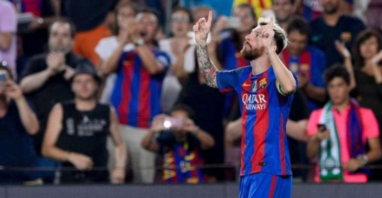 Lionel Messi hat-trick leads Barca 7-0 rout of Celtic