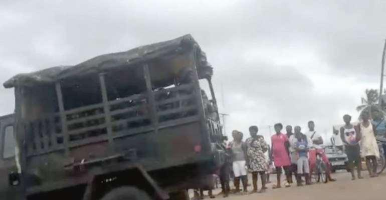 Joint Military-Police Swoop: 354 Arrested In Buduburam, Sekondi/Takoradi