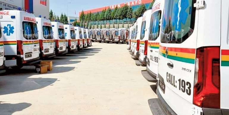Distribute The 96 Ambulances Packed At The Parliament House In Accra Now!!! - ATAG