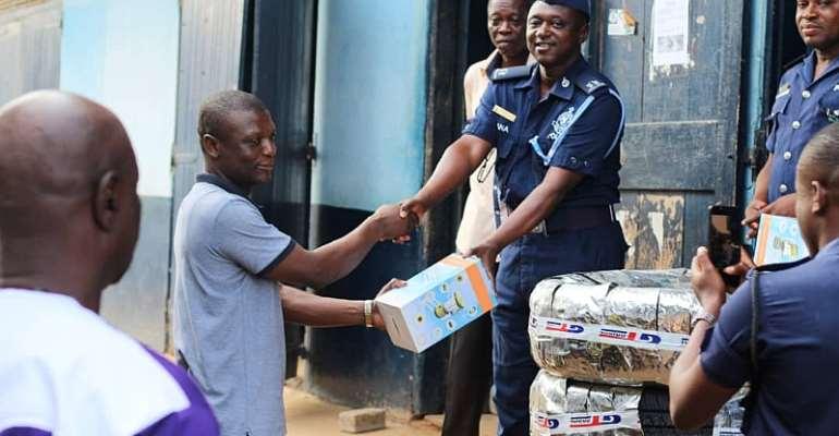Kofi Adams donates to Jasikan District Police