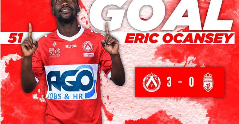 Eric Ocansey On Target As Kortrijk Defeat Royal Excel Mouscron 3-0