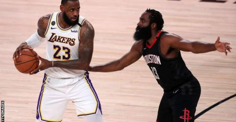 LeBron James scored 29 points as the Lakers wrapped up a 4-1 series win over the Houston Rockets