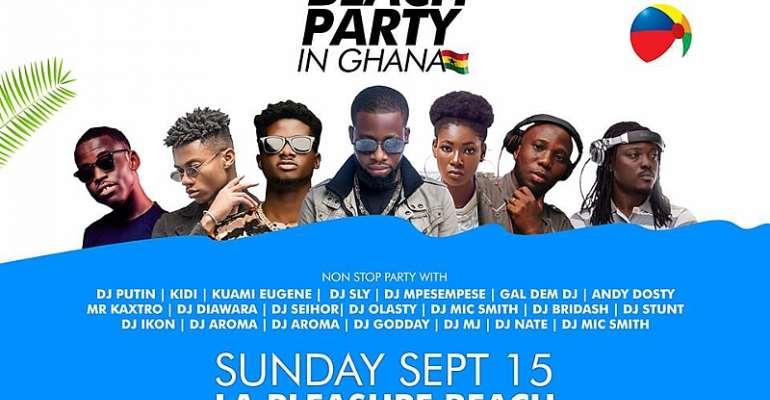 DJs, Kuami Eugene, Kidi, others, to rock Ghana DJ Awards #BeachPartyInGhana