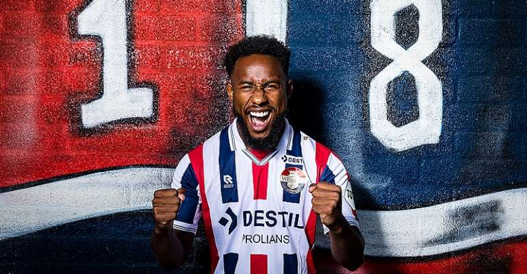 PHOTOS: Attacker John Yeboah Signs For Dutch Side Willem II