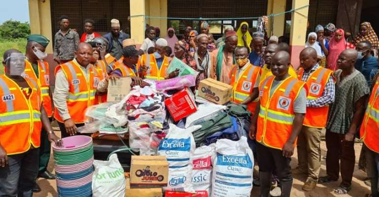 Daboya-Mankarigu: Minister Meets Victims Of Floods, Bagre Dam Spillage