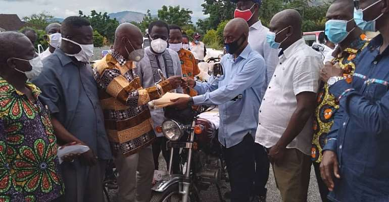 Election 2020: NPP Eastern Region Receive Motorbikes
