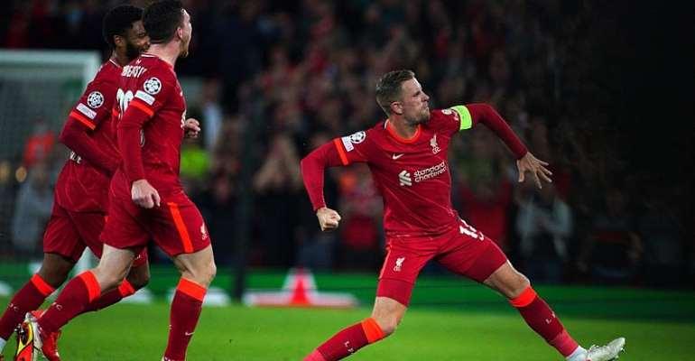 UCL: Henderson cracking strike sink AC Milan at Anfield