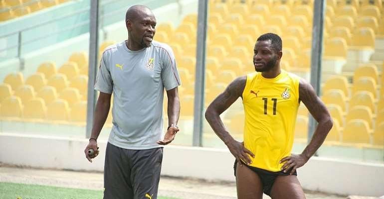 Mubarak Wakaso [Right] with Coach CK Akonnor [Left]