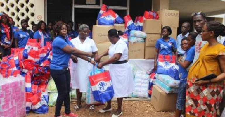 NPP Loyal Ladies give to Ho Hospital