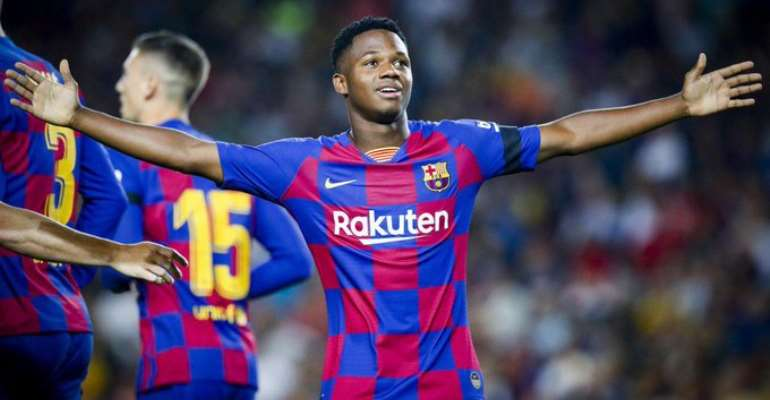 Barcelona Wonderkid Ansu Fati Favorite To Break 22-Year Old UCL Record