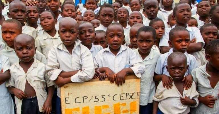 Congolese school children, photo credit: globalpartnership.org/