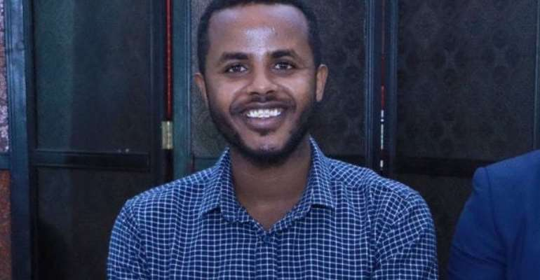 Police in Hargeisa detain freelance radio journalist, Ilyas Abdi Ali (pictured) on Monday 14 September, 2020 over a facebook post. | PHOTO/Courtesy/Private.