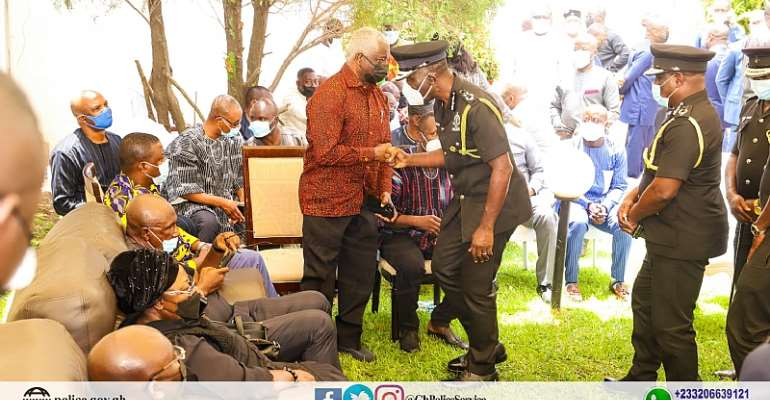 PHOTOS: Dampare, other top Police officers commiserate with bereaved Bawumia