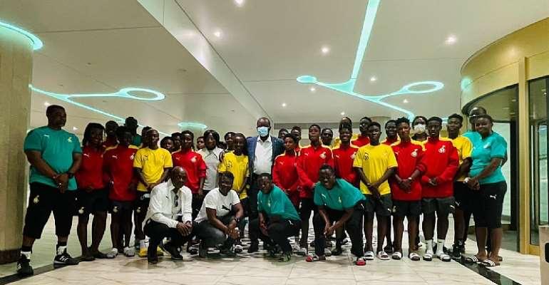Aisha Buhari Cup: GFA boss Kurt Okraku visits Black Queens ahead of first game
