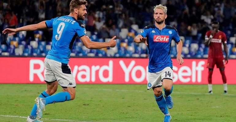 UCL: Napoli Stun Holders Liverpool