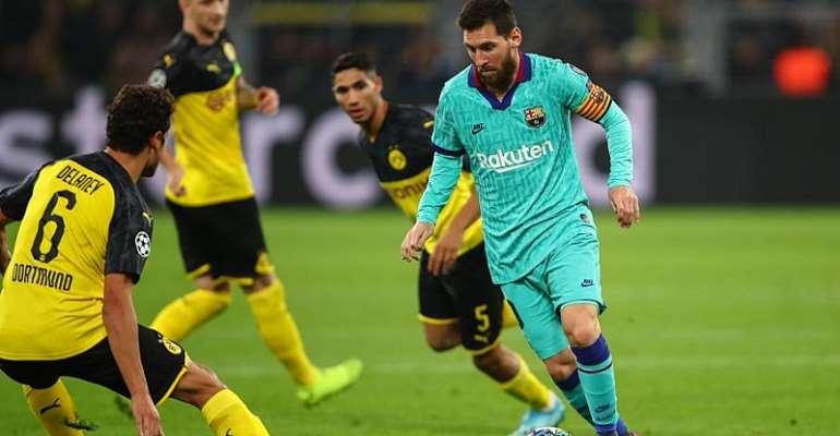 UCL: Messi Returns As Fearless Dortmund Frustrate Barcelona