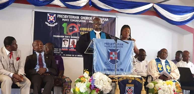 Presbyterian Church of Ghana, Paris Peace Congregation is 10 years.