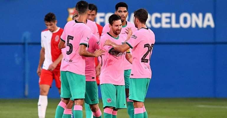 Lionel Messi Scores Twice In Barcelona Friendly Win