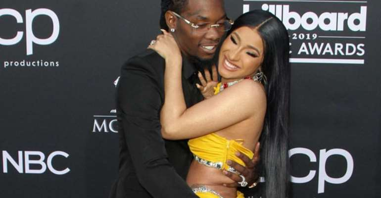 Cardi B and offset in their happy days