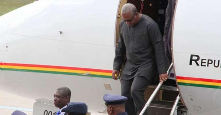 Mahama leaves Ghana for New York