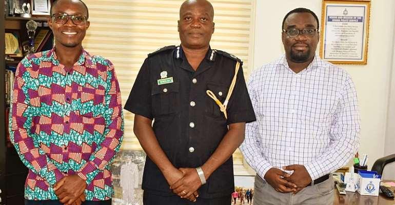 iWatch Africa pays courtesy call on ACP David Senanu Eklu, Ghana Police Service