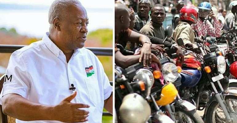 Mahama Promises To Give Okada Operators Motorbikes